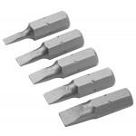 JEU DE 5 EMBOUTS PLAT 3/4/4.5/5.5/6.5 X25MM